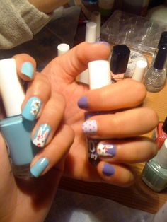 easter nail art designs bunny nails