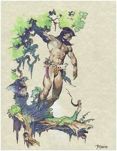 Tarzan in the Green World Comic Art
