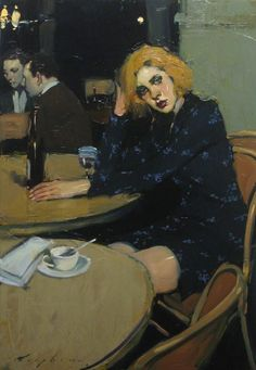 "Painting by Malcolm Liepke: ""Waiting for a Friend"" Woman Painting, Figure Painting, Painting & Drawing, Malcolm Liepke, Painting Inspiration, Art Inspo, Figurative Kunst, Wow Art, Art And Illustration"