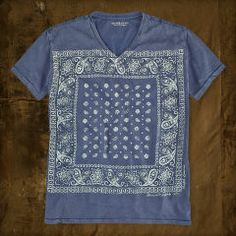 Bandanna-Print V-Neck Tee - Denim & Supply T-Shirts  - Ralph Lauren France