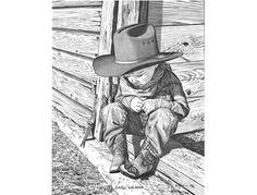 Bernie Brown - Western Pencil Art > Mini Reproductions > Small Wonders