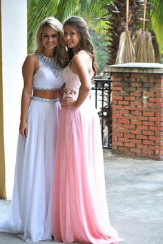 homecoming dress, 2 piece prom dress, and long prom dress.