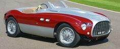 Ferrari 166 MM met een Vignale Spyder koetswerk