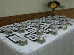 Memorial table at the reunion