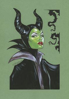 Maleficent by Elias-Chatzoudis on DeviantArt Disney Love, Disney Magic, Disney Art, Dark Disney, Disney Ideas, Disney Stuff, Sleeping Beauty 1959, Disney Sleeping Beauty, Comic Book Artists