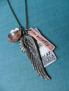 www.MyBellaMarketplace.com  #MyBellaMarketplace  Swim Bike Run Iron Butterfly Wing Pendant Necklace by MyBella Limited Edition Item