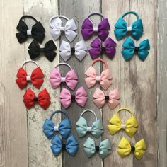 Handmade Baby Girls Yellow Bees Hair Bow Bobbles Sold in Pairs
