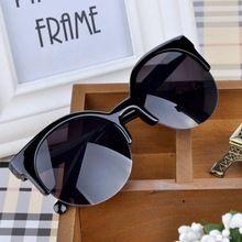 Verão estilo olho de gato óculos de sol das mulheres óculos óculos de sol Super rodada Cat Eye círculo Semi aro óculos de sol PMPJ093 * 30(China (Mainland))