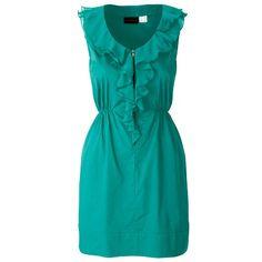 Türkises Kleid mit Rüschen 19,99 € ♥ Hier kaufen: http://www.stylefruits.de/kleid-mit-rueschen-rainbow/p4539102