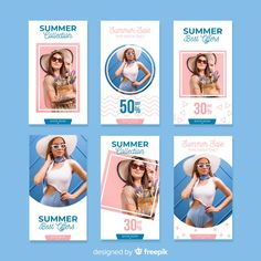 Fashion sale instagram stories collection Free Vector Instagram Design, Layout Do Instagram, Instagram Story Ideas, Social Media Banner, Social Media Branding, Social Media Template, Social Media Design, Graphic Design Brochure, Fashion Graphic Design