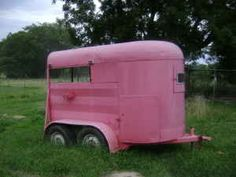 Lucy makes a very important discovery inside a horse trailer. (Wish I'd thought to make the trailer pink!)