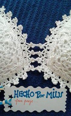D & # iArt Crochet Art: Gehäkelter Bikini # - Crochet Dress - Baby Bikini Tops Tejidos A Crochet, Crochet Bra, Crochet Bikini Pattern, Crochet Mermaid, Crochet Bikini Top, Crochet Shirt, Crochet Woman, Crochet Clothes, Crochet Patterns