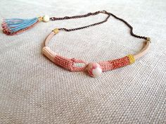 Tassel pendent necklace by kjoo on Etsy