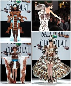How about a dress made of chocolate??