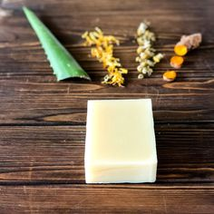 In this photo I have included the star ⭐️ ingredients that makes our Aloe & Calendula soap unique and so very soothing to the ski Organic Soap, Cold Process Soap, Calendula, Handmade Soaps, Organic Skin Care, Aspen, Glass Of Milk, Artisan, Star