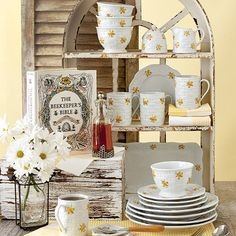 Beehive Collection - Featuring delightful, scalloping detail, this light and lively Beehive Dinnerware adds summer charm and variety to your table.