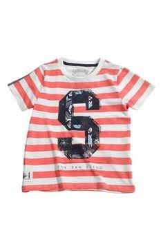 Lækre Name it T-shirt Ian Koral Stribet Name it T-shirt til Børn & teenager i fantastisk kvalitet