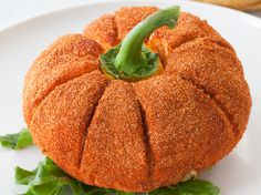 Cheeseball Pumpkin: Use a savoury cheeseball recipe, then roll in Sriracha Seaso. - Cheeseball Pumpkin: Use a savoury cheeseball recipe, then roll in Sriracha Seasoning for a bright p - Epicure Recipes, Mexican Food Recipes, Meatloaf Recipes, Brownie Recipes, Pumpkin Uses, Cheese Ball Recipes, Hummus Recipe, Recipes