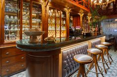 Bar at the Ravouna 1906 hotel in Istanbul Istanbul Hotels, Marble Top, Liquor Cabinet, Interior Design, Architecture, Places, Table, Furniture, Coffee Machines