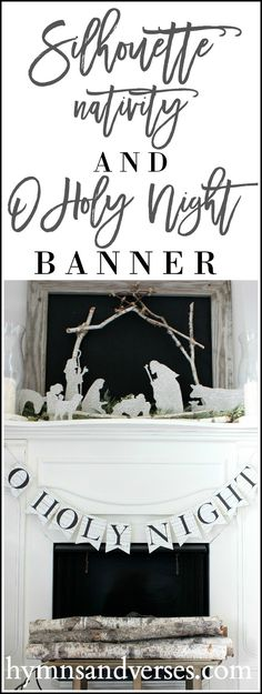 DIY Christmas Silhouette Nativity and Banner