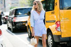 Street style à la Fashion Week printemps-été 2017 de New York Adenorah robe…