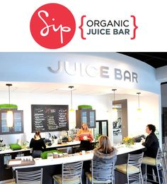 Best Juice Bars: Sip  I like the idea of a bar people come up to sit and order, like a bar bar.