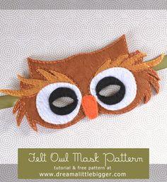 Owl mask pattern Pinned by www.myowlbarn.com