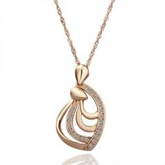 Wave 18 Karat Gold Plated Necklace