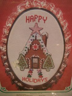 The New Berlin Co. HAPPY HOLIDAYS Counted by CraftyCrossStitches, $15.00