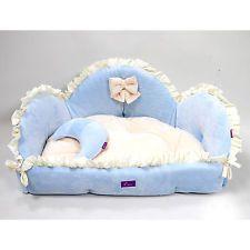 small pet dog cat cute pretty furniture soft sofa nest bed small house mat blue