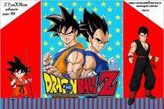 Dragon Ball Z:  Free Printable Invitations.