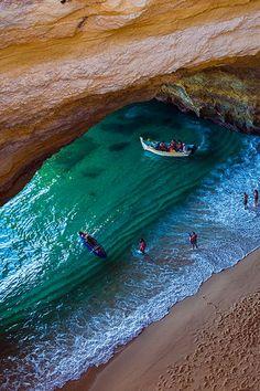 Benagil Cave, Algarve, Portugal.