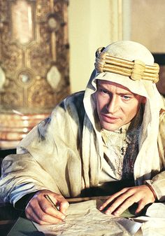 Peter O'Toole in Lawrence of Arabia, 1962. Via http://hollywoodlady.tumblr.com/