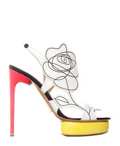 New trends in shoes: vibrant colors and mixing textures. Nicholas Kirkwood Spring 2012