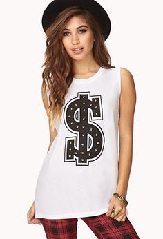 Dollar Sign Muscle Tee | Forever 21 - 2040495297