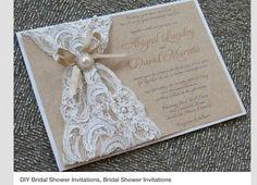 invitaciones de boda con encaje - Buscar con Google