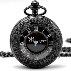 Hey, I found this really awesome Etsy listing at https://www.etsy.com/listing/175255519/steampunk-pocket-watch-black-pocket