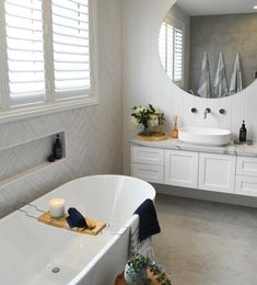 Simple Bathroom Upgrades Ideas For Rental Home Hampton Style Bathrooms, Easy Bathroom Upgrades, Bathroom Styling, Bathroom Interior, Small Bathroom Remodel, Bathrooms Remodel, House, Tile Bathroom, Laundry In Bathroom