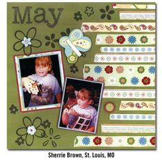 Fun layout good use of small scraps of paper