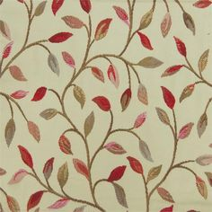 A traditional brocade trailing small leaf and stem pattern . Caravan Upholstery, Voyage Fabric, Curtain Fabric, Curtains, Small Leaf, Chenille Fabric, Sheer Fabrics, Cotton Linen, Embroidery Designs