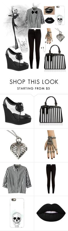 """""""The Nightmare Before Christmas"""" by susi-velasquez on Polyvore featuring Demonia, Disney, Relaxfeel, New Look, Casetify, Lime Crime and Thenightmarebeforechristmas"""