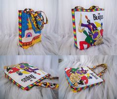 The Beatles Fab Four Tote Bag Sgt Peppers Yellow by SalvagedStitch, $68.00