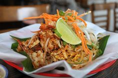 No-carb Pad Thai (noodles are papaya slivers). The savory side of SkyIce Sweet & Savory, Park Slope #Brooklyn