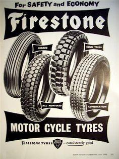 Vintage Rubber for your Cafe Racer - Firestone Tyres