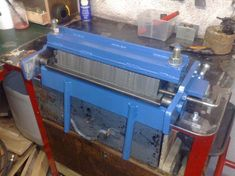 Hi all, this was last Sundays project. I've wanted a small heavy duty metal folder for a while. As you have probably seen I made a 30 ton hydraulic Sheet Metal Brake, Metal Bender, Metal Box, Metal Working, Projects To Try, Mini, Tractor, Angles, Tools