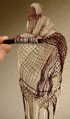 obra de Herczeg Agnes, artista textil rumana