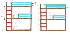 Triple bunk ideas from Classic bunks Wooden Bunk Beds, Metal Bunk Beds, Cool Bunk Beds, Bunk Beds With Stairs, Kids Bunk Beds, Double Bunk Beds, Triple Bunk, Tripple Bunk Bed, Bunk Bed Plans