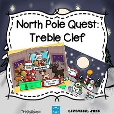 Help! Santa can't find the sack of toys to deliver to the girls and boys. In these interactive games students click on objects to find the toys and have to know the letter names of the treble clef.