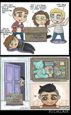 This is dedicated to Zayn. Arte One Direction, One Direction Fan Art, One Direction Drawings, One Direction Cartoons, One Direction Pictures, One Direction Memes, Desenhos One Direction, Foto One, Emo