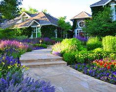 Colorado Backyard Landscaping | Front Yard Renovation - traditional - landscape - denver - by ... Home Landscaping, Front Yard Landscaping, Landscaping Software, Denver Colorado, Garden Paths, Garden Tools, Garden Ideas, Walkway Garden, Border Garden